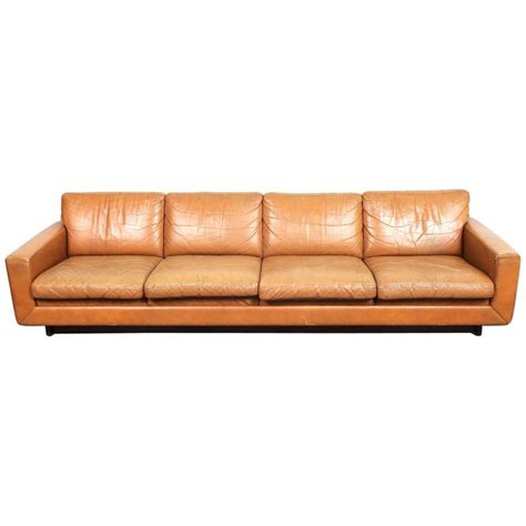 modern low sofa danish mid century modern low leather four seat sofa for
