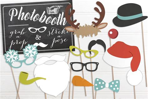 printable xmas photo props free christmas props printable photobooth prop wedding