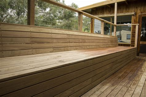 decking bench seat blackbutt bench seat and decking beaumont spruce