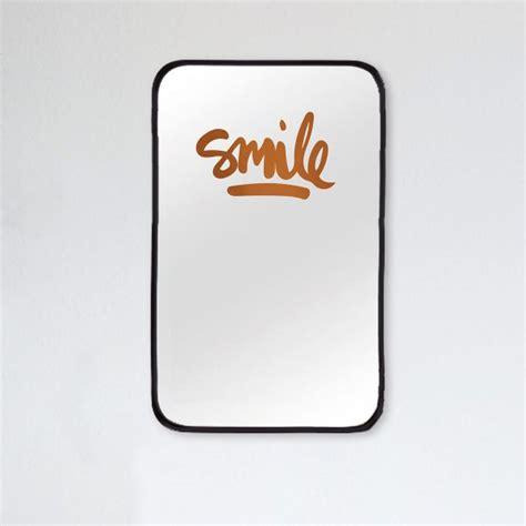 Spiegel Aufkleber by Formart Spiegelaufkleber Smile Kupfer Online Kaufen