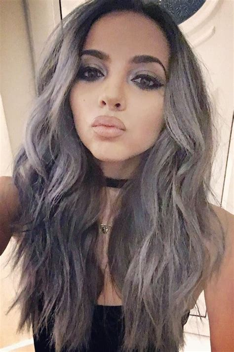 Jade Thirlwall Wavy Silver Angled, Loose Waves Hairstyle ... Siobhan Williams Instagram