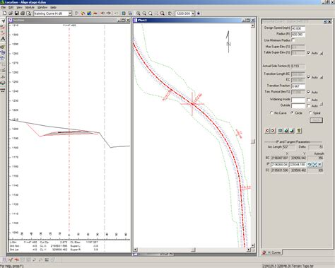 horizontal layout definition horizontal curve details softree technical systems support