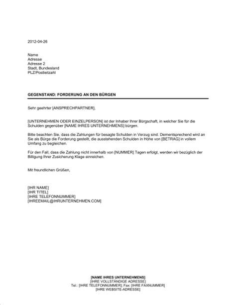 Vorlage Verzug Musterbrief Forderung An Den B 252 Rgen Vorlagen Und Muster Biztree