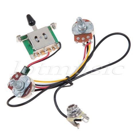 two guitar wiring harness 3 way blade switch 500k