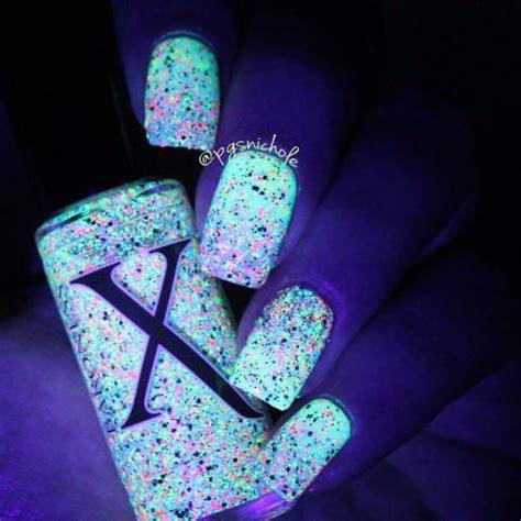 neon bubbles black, silver holo & neon microglitter