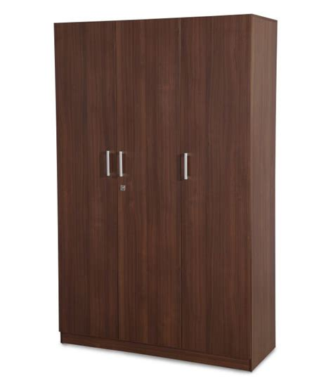 nilkamal reegan 3door wardrobe w o mirror walnut buy
