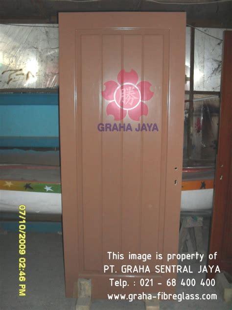 Daun Pintu Kayu Tebal Kuat Tahan Lama Awet Anti Rayap Tanpa Gagang pintu fiber graha fiberglass indonesia