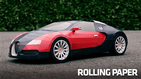 How To Make A Car Out Of Paper - how to make a 1 6 million bugatti veyron out of paper