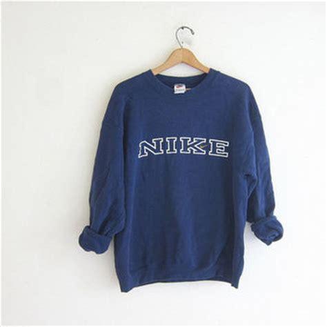 Hoodie Jumper Navy Most Popular vintage nike coed sweatshirt navy blue from birdies