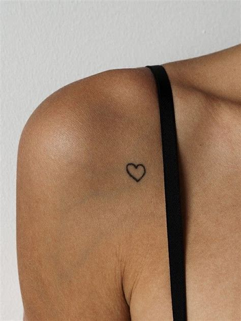small heart tattoo on foot best 20 front shoulder tattoos ideas on