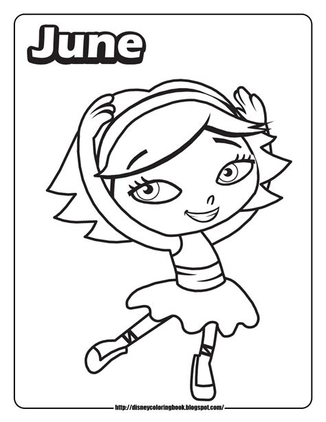 june color little einsteins 1 free disney coloring sheets learn to