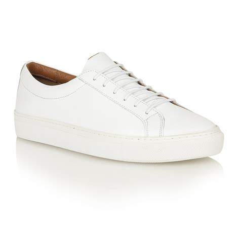 mens white leather sneakers buy s frank wright eddie white leather cup sole