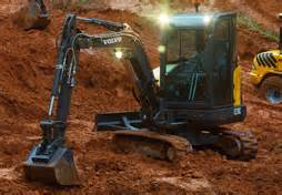 volvo rents shreveport compact sized excavators for rent sale equipment