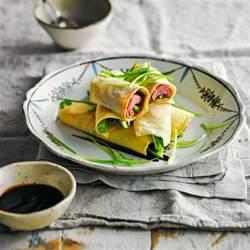 peking duck pancakes recipe  homes  gardens