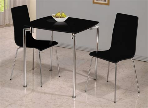 Small Dining Table And Chairs For 2 Small Black High Gloss Dining Table And 2 Chairs Homegenies
