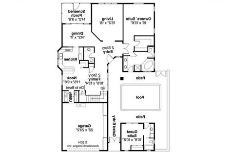 Mediterranean House Floor Plans by Mediterranean House Plans Coronado 11 029 Associated