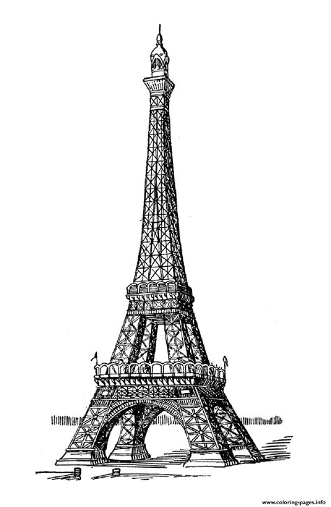 coloring page of the eiffel tower adult eiffel tower coloring pages printable