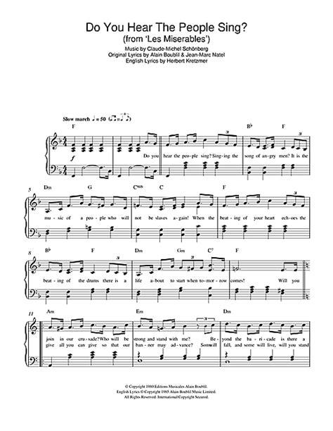 printable lyrics do you hear what i hear do you hear the people sing from les miserables sheet