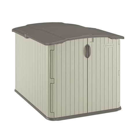 suncast vanilla resin outdoor storage shed common