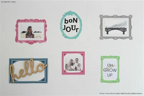 wall frame stickers frames removable wall decals wallternatives