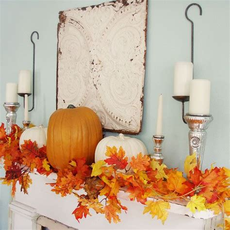 fall mantel decorating ideas 31 cozy and creative fall mantel d 233 corating ideas digsdigs