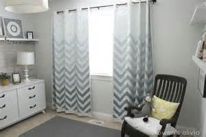 Baby Boy Nursery Curtains Ombre Chevron Curtains In Boys Nursery