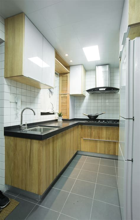 Yan S Kitchen by Small Apartment Mixes Modern And Traditional Elements