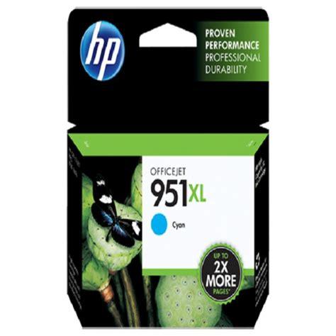 Hp Tinta Printer 951xl Cyan hp cyan ink cartridge 951xl cn046aa