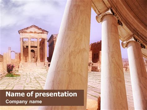 ancient greece presentation template for powerpoint and