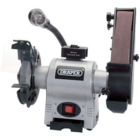 bench grinder with sanding belt draper 05096 150mm 370w 230v bench grinder with sanding belt toolnutie