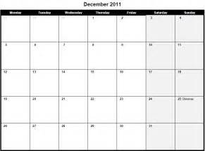 printable calendar template pdf printable pdf december 2011 calendar december 2011