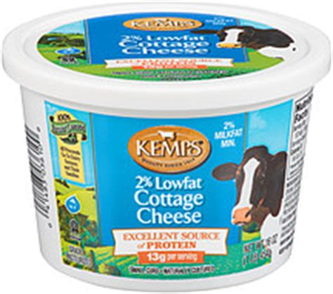Cottage Cheese 2 Nutrition by Kemps Cottage Cheese 2 Lowfat 16 0 Oz Nutrition
