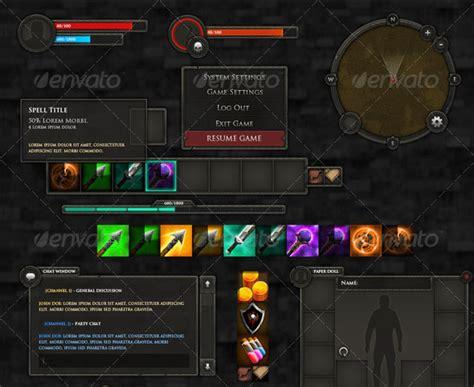 design game hud 60 fantastic game ui hud elements web graphic design
