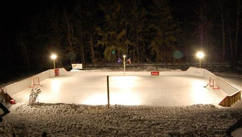 backyard rink lighting the best backyard hockey rinks cavyhockey for the