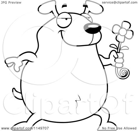chubby puppies coloring pages cartoon clipart of a black and white chubby dog presenting