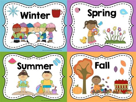 printable seasons poster display these free posters in your classroom to help your