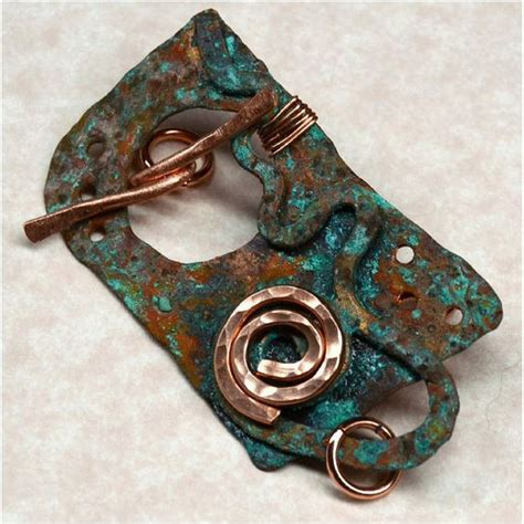 Handmade Clasps - handmade rustic copper toggle clasp copper rustic and
