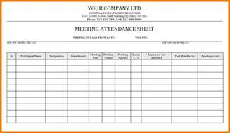 meeting attendance template aa meeting attendance sheet template pictures to pin on