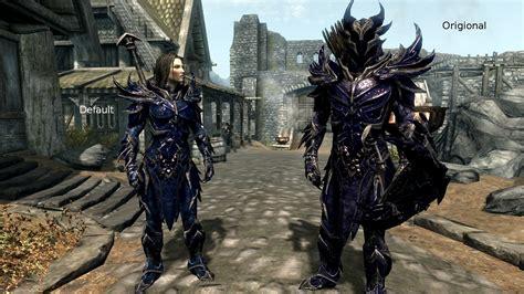 Skyrim Light Armor by Daedric Light Armor Daedric Blue At Skyrim Nexus Mods