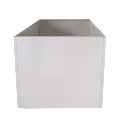 White Square 16 Inch Metal Planter Box Extra Large Aluminum Square White Planter