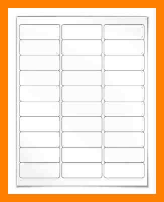 Avery 8460 Template by 10 Avery 8460 Template Time Table Chart