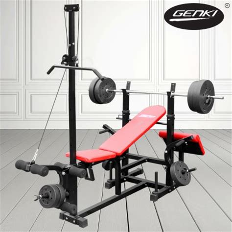 bench press station genki multi station bench press with weights crazy sales