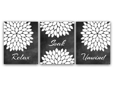 free printable modern wall art bathroom wall art relax soak unwind instant download