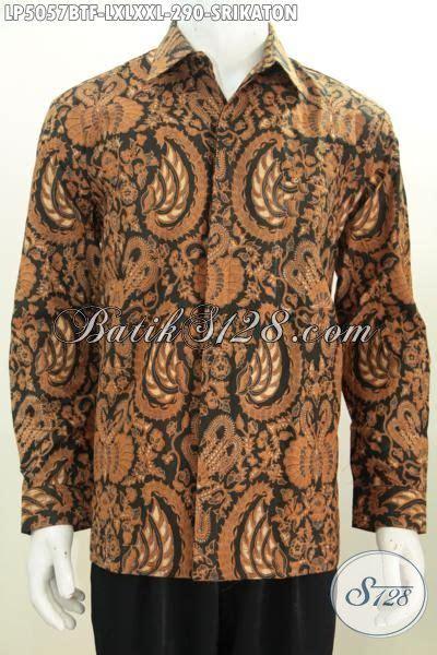 Kemeja Batik Klasik Lengan Panjang baju kemeja batik lengan panjang motif klasik hem batik srikaton furing elegan buat acara