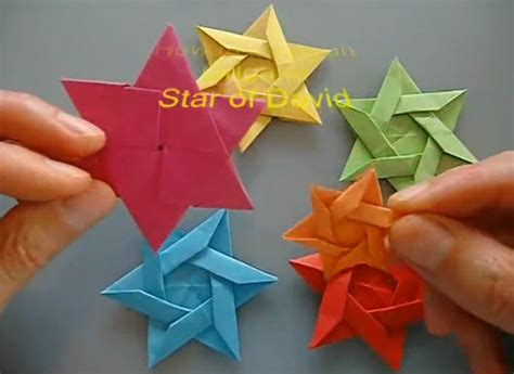 How To Make An Origami Of David - origami of david tutorial