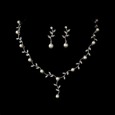 pearl jewelry sets pearl bridal jewelry pearl wedding embrace cz pearl bridal jewelry set elegant bridal