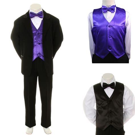 new baby boy formal wedding black suit tuxedo