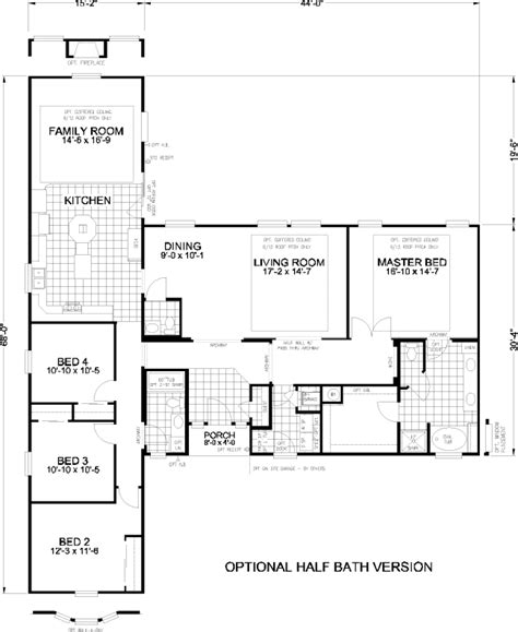 t shaped house floor plans hamilton modular home pro