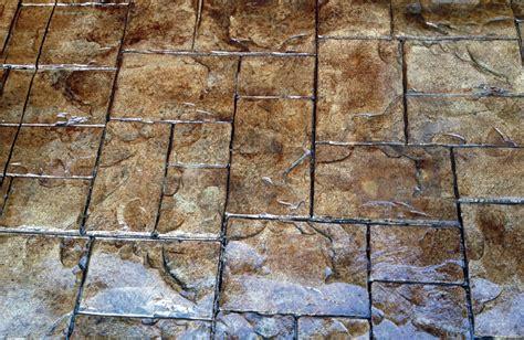 Rocks For Backyard Stamped Concrete Patterns