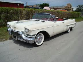 Vintage Cadillac Convertible 1957 Cadillac 62 Series White Convertible With